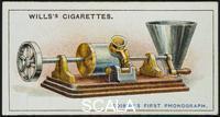 ******** Thomas Alva Edison's first Phonograph, 1878 (1915).