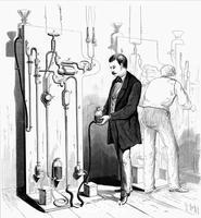******** Making Edison light bulbs, 1880.