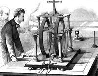 ******** Thomas Edison's improved form of JW Trowbridge's electric dynamometer, 1879.