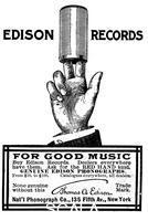 ******** Advertisement for Edison phonograph cylinder recordings, 1900.