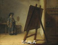 Rembrandt van Rijn (1606-1669) Artista nel suo studio