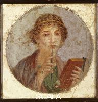 Roman art Portrait of Girl, The Poetess of Pompeii or Sappho