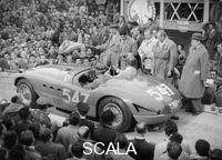 ******** Ferrari of Giannino Marzotto, Mille Miglia, Italy, 1953.