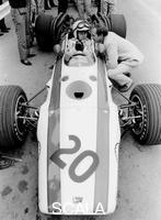 ******** John Surtees in Honda V12, Belgian Grand Prix, 1968.