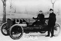 ******** Barney Oldfield and Henry Ford with Ford '999', 1902.