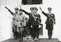 ******** Heinrich Himmler and Benito Mussolini during a meeting of the police chiefs of Germany, Yugoslavia, Albania and Portugal. Photography. Around 1930