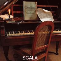 ******** La camera di Joseph Anton Bruckner con il pianoforte
