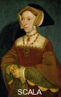 Holbein, Hans the Younger (1497-1543) Portrait of Jane Seymour queen of England, 1536