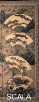Motonobu Kano (1476 ca.-1559) Tsukinami fuzokuzu senmen nagashi byobu (Scene di genere sui dodici mesi). Paravento a sei ante (da Gennaio a Giugno), sec. XVI. - particolare.